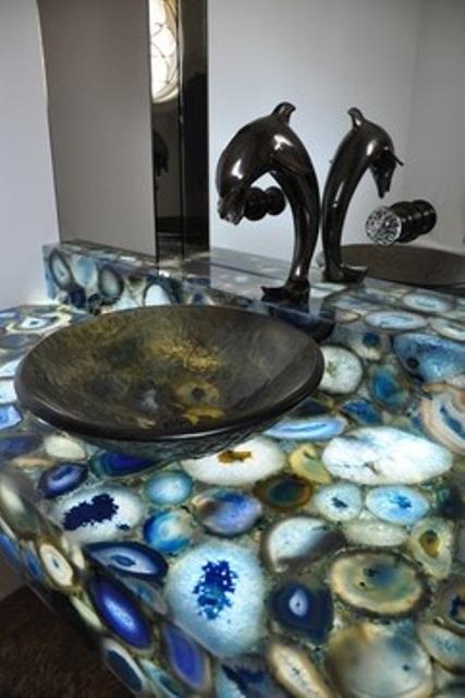 Декорация на морска тема в банята
