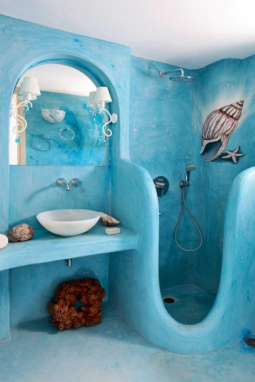 Морска тема за дизайн на банята