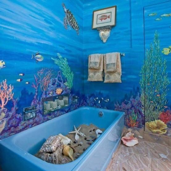 Морска тема в интериор на баня