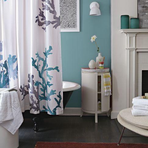 Декорация на баня в синьо