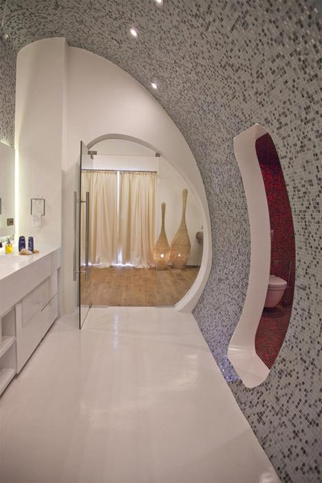 дизайн на баня с овални стени