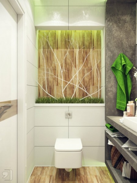 Интериор на малка баня