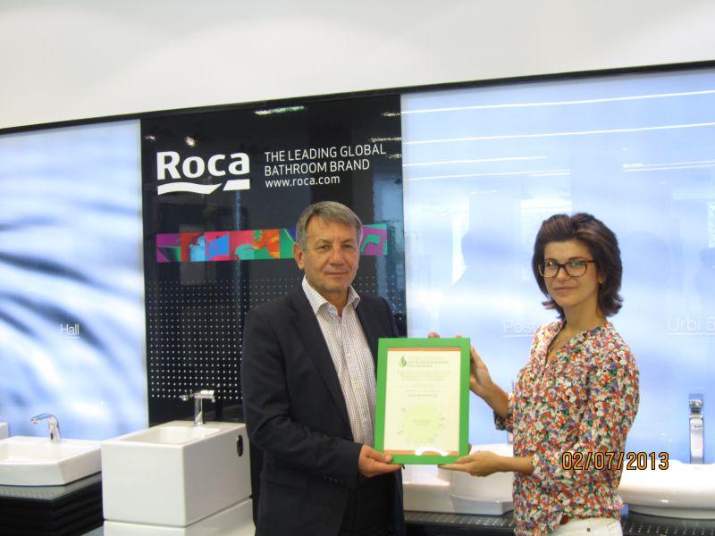 Наградата получава Веселин Симов, прокурист и мениджър маркетинг и продажби